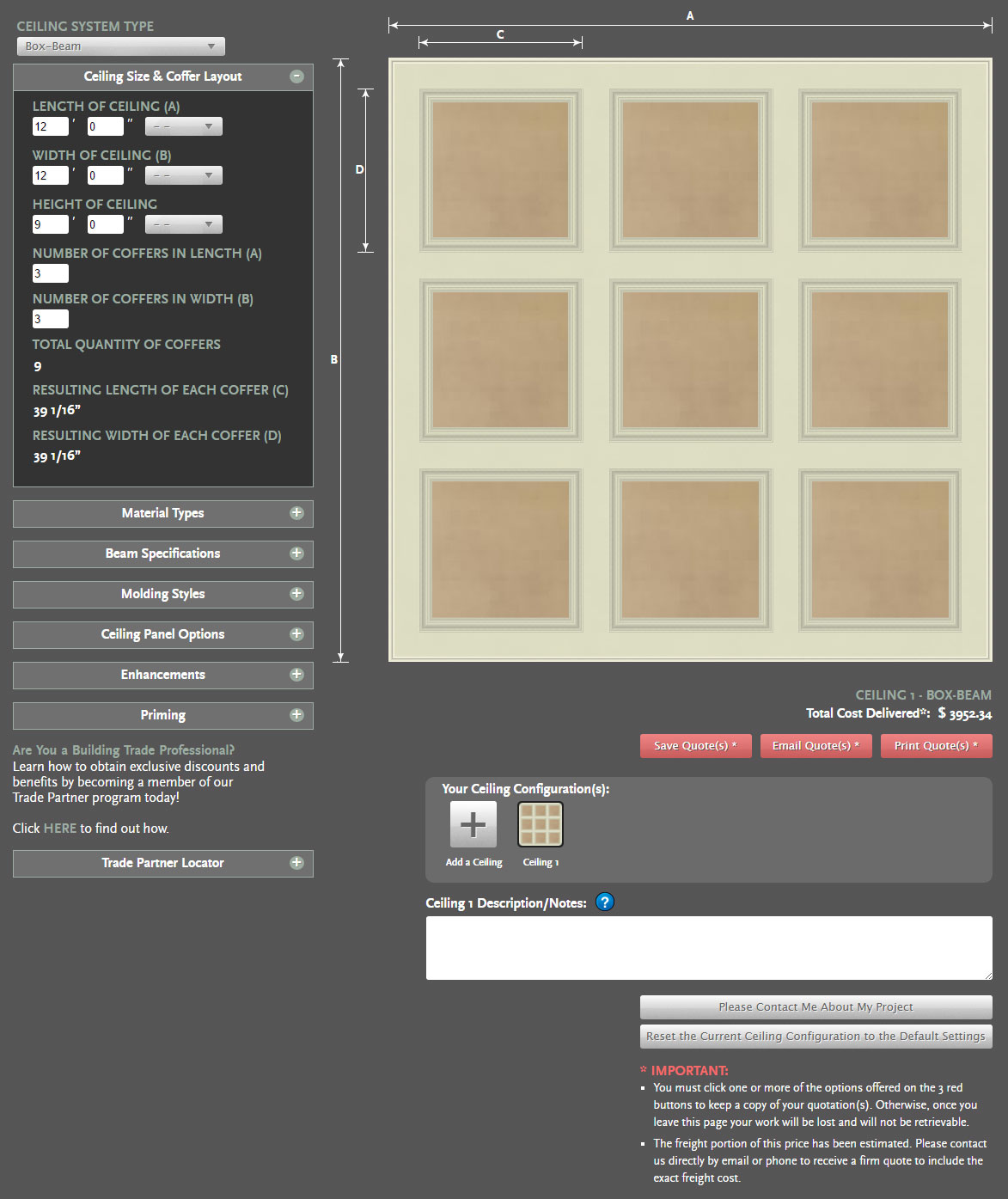 Coffered Ceiling Price | How Much is a Coffered Ceiling | Get a ...