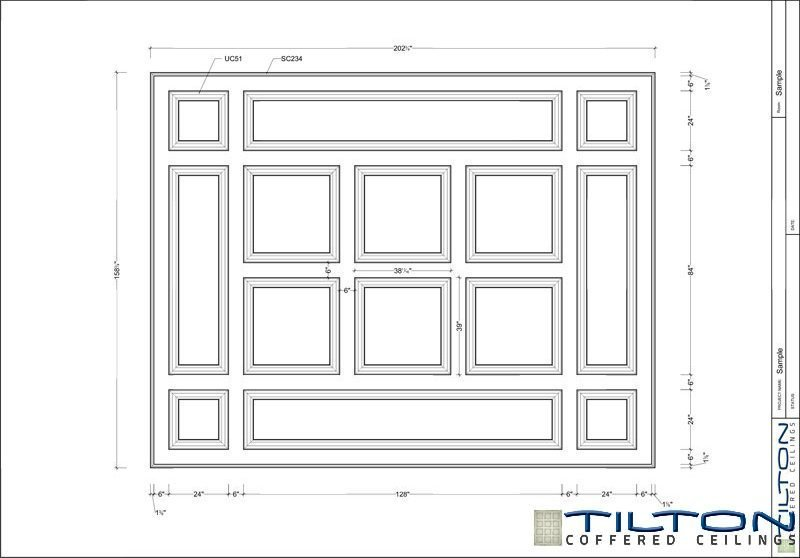 Coffered ceiling detail drawing for Coffered ceiling plans