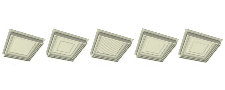 Coffered Ceiling Panel Options