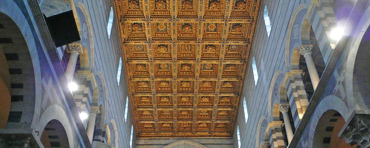 Coffered ceiling history learn the true history of for Coffered cathedral ceiling