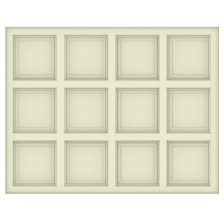 Coffered Ceiling Plan - Square Smooth Panel