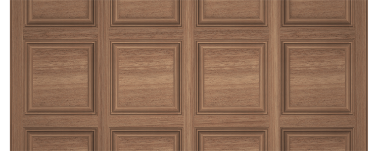 Mahogany Box-Beam Coffered Ceiling