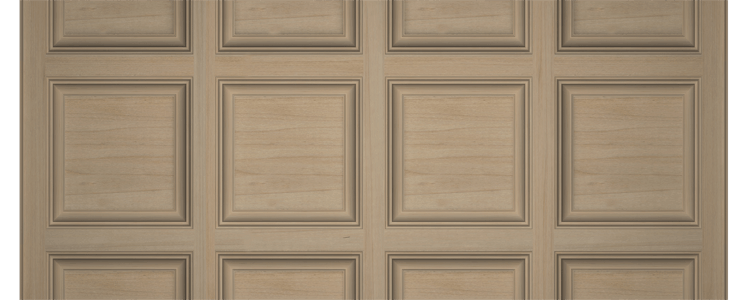 Maple Box-Beam Coffered Ceiling