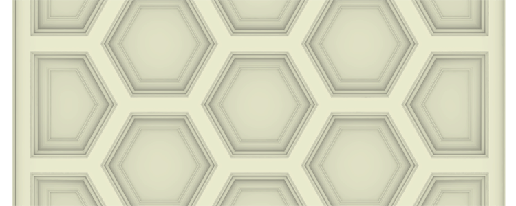 Hexagon Box-Beam Coffered Ceiling