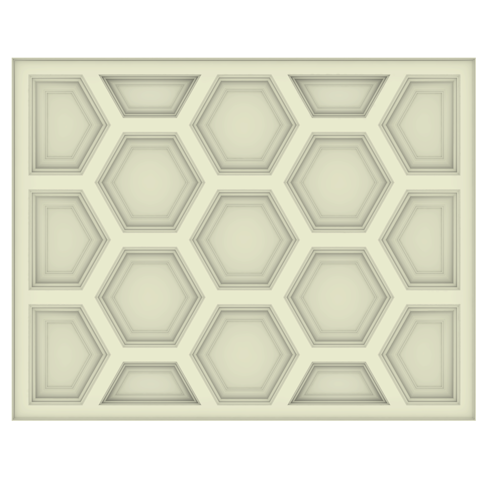 Hexagon Coffered Ceiling