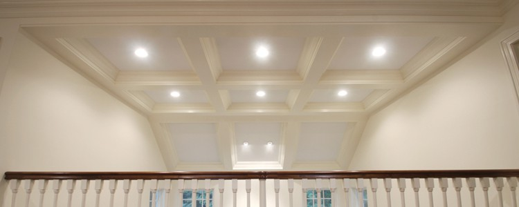 Coffered Ceiling Vaulted