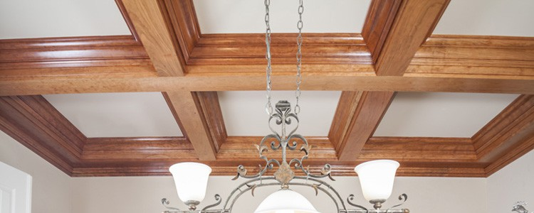 Wood Coffered Ceiling Beams
