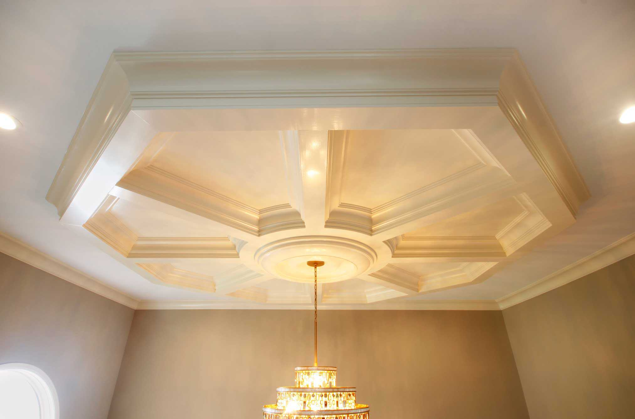 Coffered Ceiling System : Easy Ceiling Panel Treatments