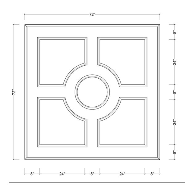 coffered ceiling medallion kit MED-72-CIR-1 | ceiling system | ceiling tile | faux beams