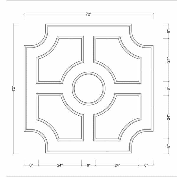 coffered ceiling medallion kit MED-72-CIR-3 | ceiling system | ceiling tile | faux beams