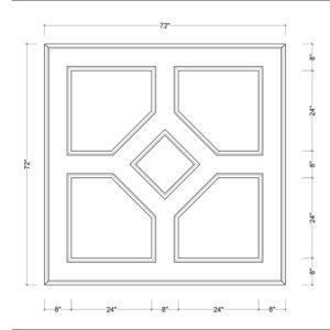coffered ceiling medallion kit MED-72-DIA-1 | ceiling system | ceiling tile | faux beams