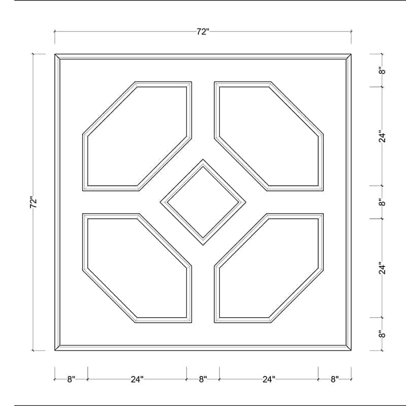 coffered ceiling medallion kit MED-72-DIA-2 | ceiling system | ceiling tile | faux beams