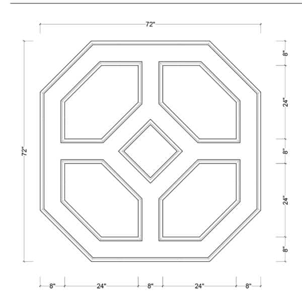 coffered ceiling medallion kit MED-72-DIA-3 | ceiling system | ceiling tile | faux beams