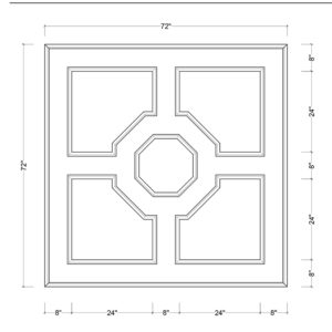 coffered ceiling medallion kit MED-72-OCT-1 | ceiling system | ceiling tile | faux beams