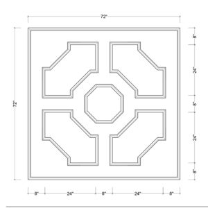 coffered ceiling medallion kit MED-72-OCT-2 | ceiling system | ceiling tile | faux beams