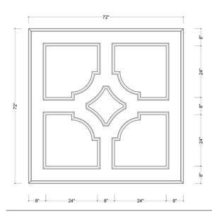 coffered ceiling medallion kit MED-72-SCA-1 | ceiling system | ceiling tile | faux beams