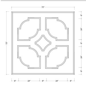 coffered ceiling medallion kit MED-72-SCA-2 | ceiling system | ceiling tile | faux beams