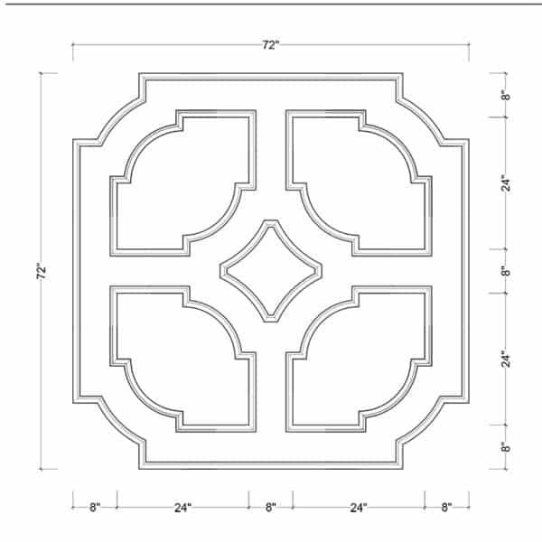 coffered ceiling medallion kit MED-72-SCA-3 | ceiling system | ceiling tile | faux beams