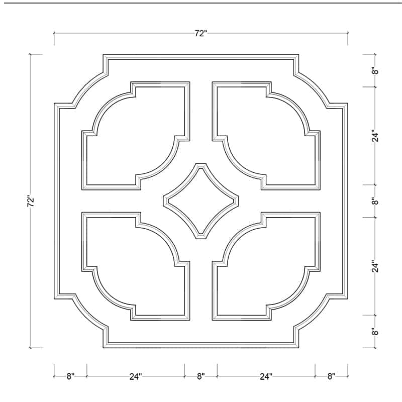 coffered ceiling medallion kit MED-72-SCA-3   ceiling system   ceiling tile   faux beams