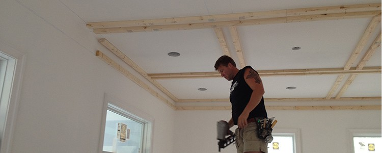 how to install ceiling beams