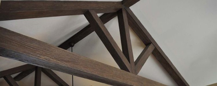 Faux Wood Beam Trusses