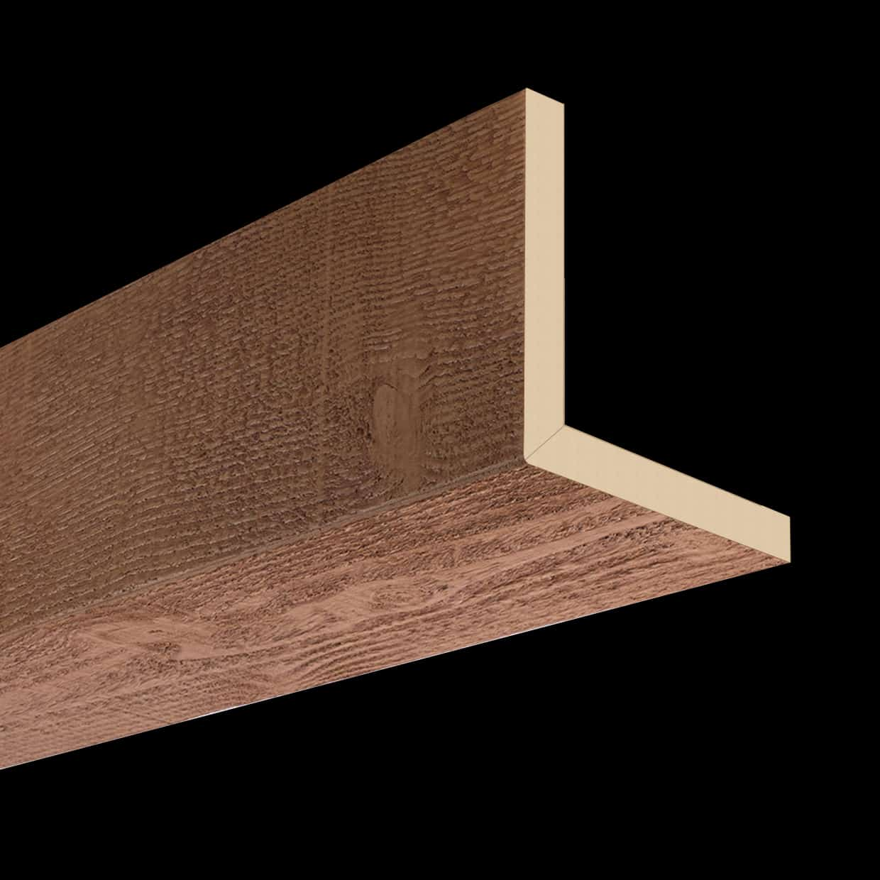 Faux Wood Ceiling Beam 2SBA - Rough Sawn - Oak (2b)