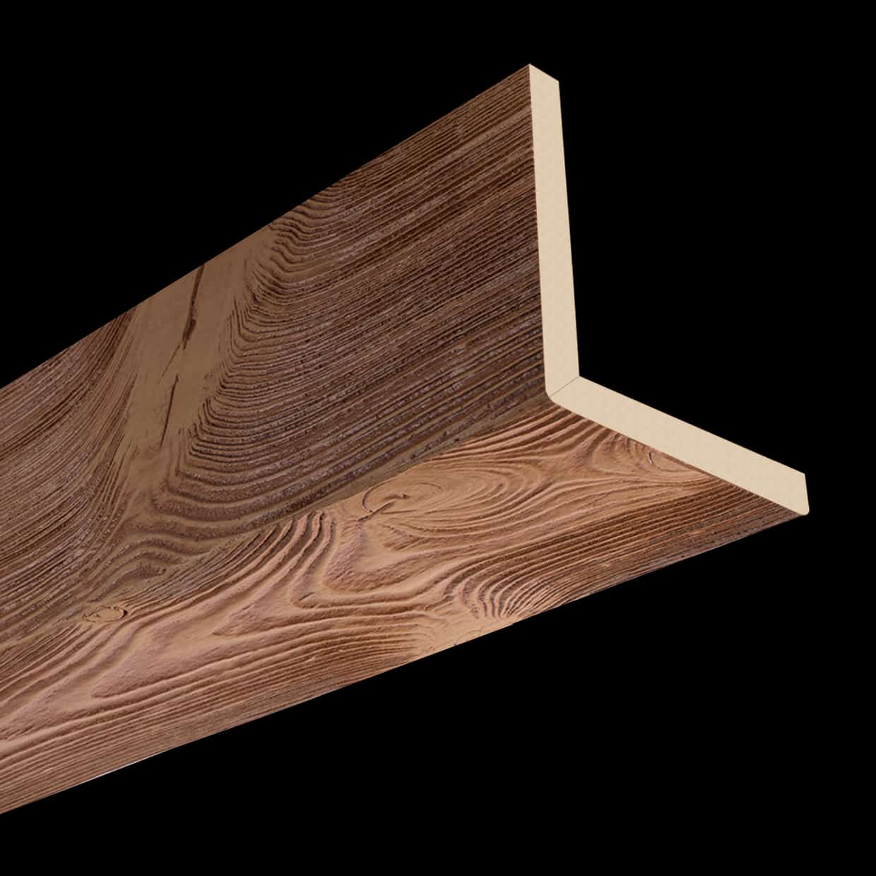 Faux Wood Ceiling Beam 2SBA - Sandblasted - Oak (2b)
