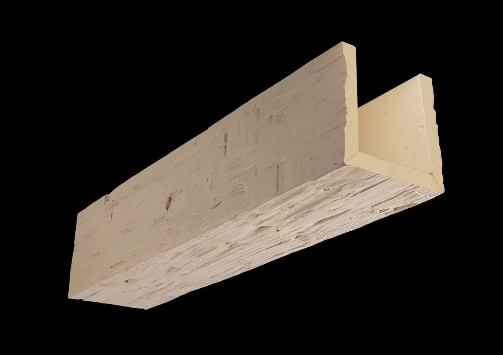 Faux Wood Ceiling Beam Assembled - Hand Hewn - Primed (1b)