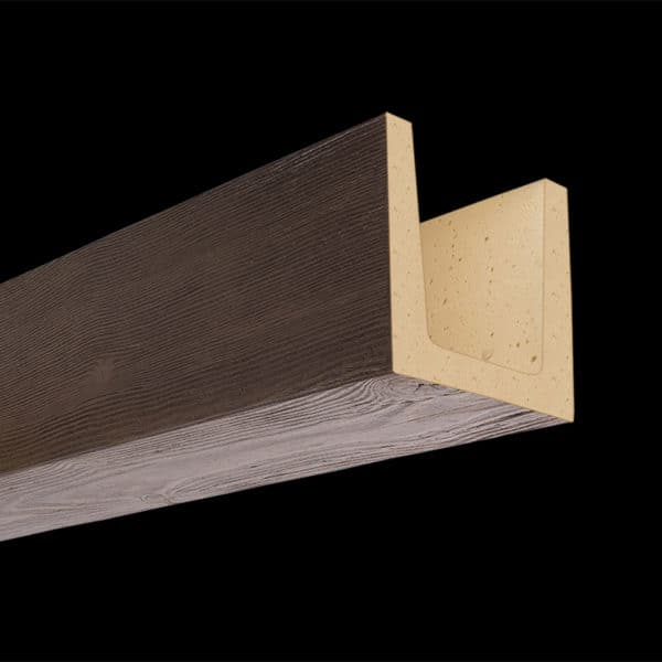 Faux Wood Ceiling Beam Molded - Douglas Fir - Dark Walnut (2b)