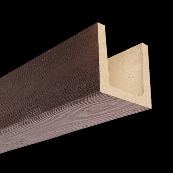 Faux Wood Ceiling Beam Molded - Douglas Fir - Mahogany (2b)