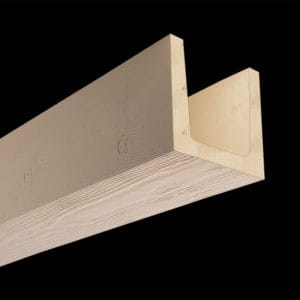 Faux Wood Ceiling Beam Molded - Douglas Fir - Primed (2b)