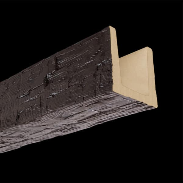 Faux Wood Ceiling Beam Molded - Hand Hewn - Espresso (2b)