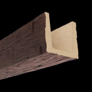 Faux Wood Ceiling Beams - Molded Series - Hand Hewn - Mahogany
