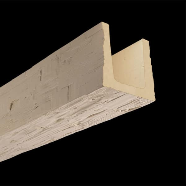 Faux Wood Ceiling Beam Molded - Hand Hewn - Primed (2b)