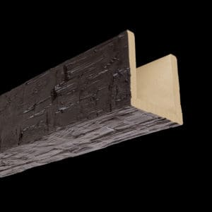 Faux Wood Ceiling Beams - Assembled Series - Hand Hewn - Espresso