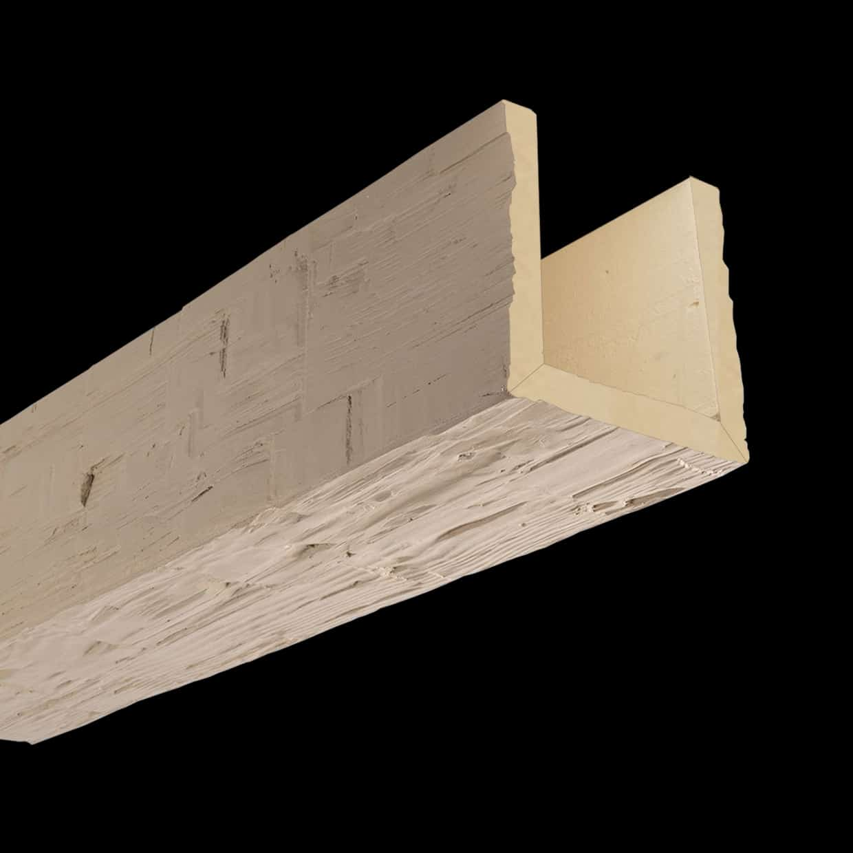 Faux Wood Ceiling Beam Assembled - Hand Hewn - Primed (2b)