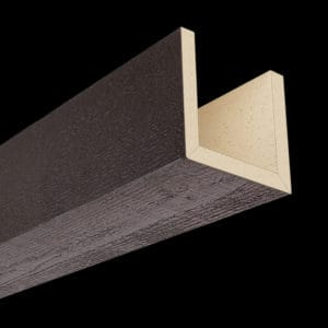 Faux Wood Ceiling Beams - Assembled Series - Rough Sawn - Espresso