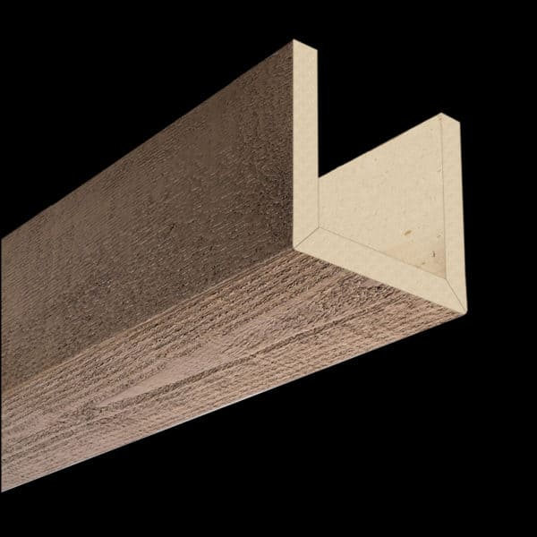 Faux Wood Ceiling Beams - Assembled Series - Rough Sawn - Light Walnut