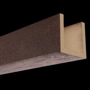 Faux Wood Ceiling Beams - Assembled Series - Rough Sawn - Mahogany