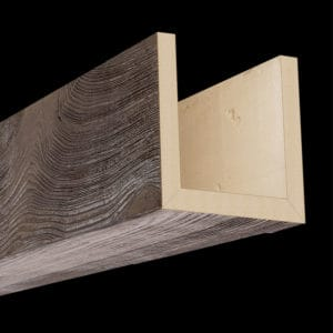 Faux Wood Ceiling Beams - Assembled Series - Sandblasted - Dark Walnut