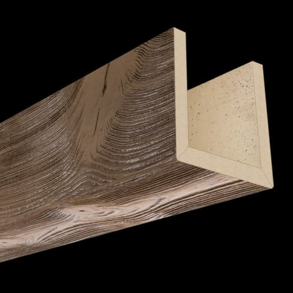 Faux Wood Ceiling Beams - Assembled Series - Sandblasted - Light Walnut