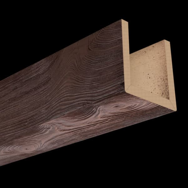 Faux Wood Ceiling Beams - Assembled Series - Sandblasted - Mahogany