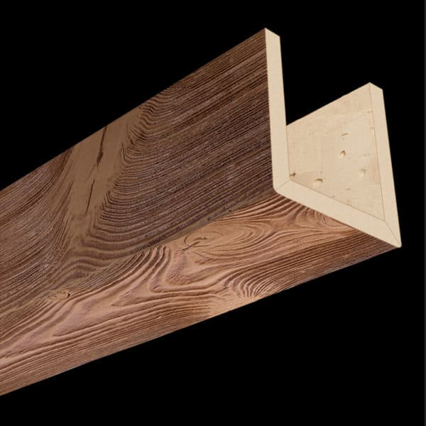 Faux Wood Ceiling Beams - Assembled Series - Sandblasted - Oak