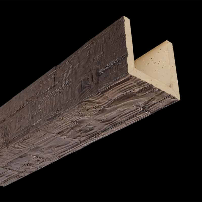 Faux Wood Ceiling Beam Assembled - Tuscany - Dark Walnut (2b)