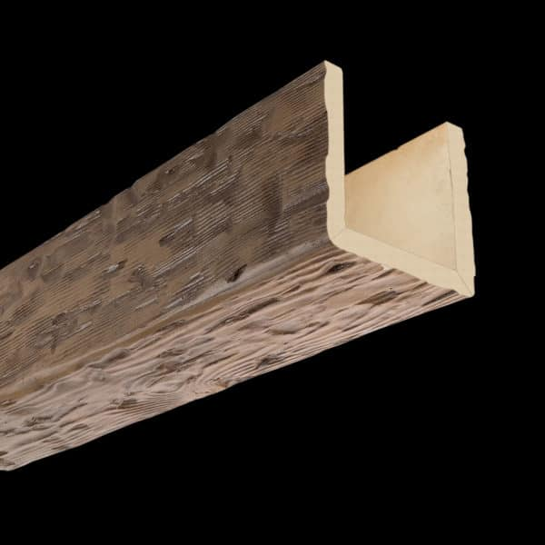 Faux Wood Ceiling Beam Assembled - Tuscany - Light Walnut (2b)