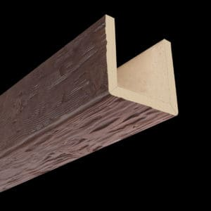 Faux Wood Ceiling Beam Assembled - Tuscany - Mahogany (2b)