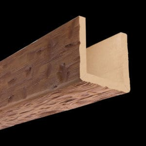 Faux Wood Ceiling Beam Assembled - Tuscany - Oak (2b)