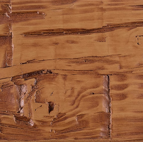 Faux Wood Ceiling Beam Swatch - Hand Hewn - Oak