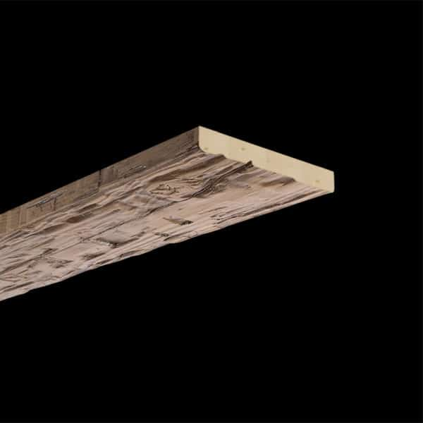 Faux Wood Ceiling Plank - Hand Hewn - Light Walnut (2b)