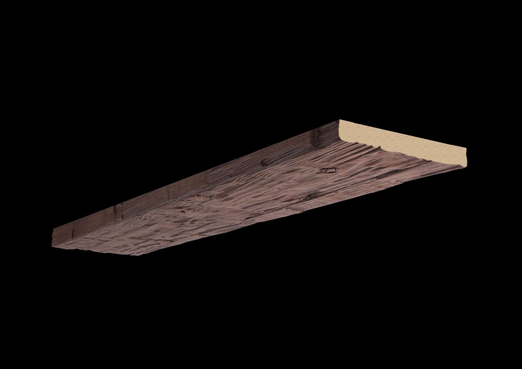 Faux Wood Ceiling Plank - Hand Hewn - Mahogany (1b)